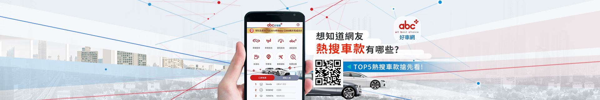 abc好車網 App 想知道網友熱搜車款有哪些? TOP5熱搜搶先看